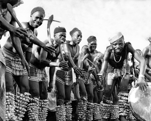 Cultural troupe from central Nigeria at Durbar festival in 1956